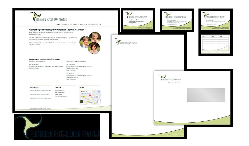 logo huisstijl en website