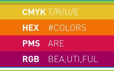 Meer over kleuren, kleurnummers en coderingen