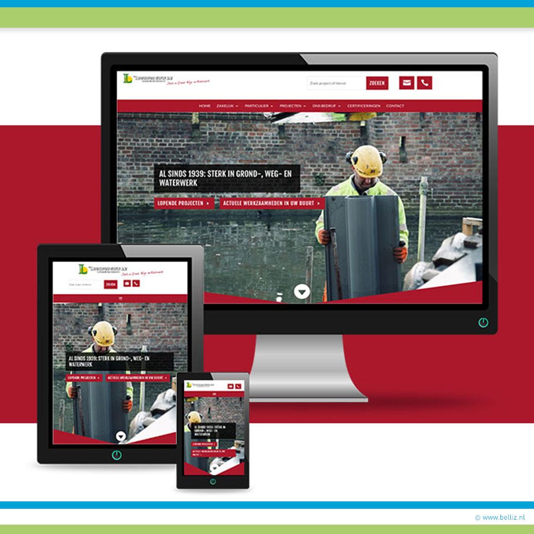 nieuwe website aannemingsbedrijf