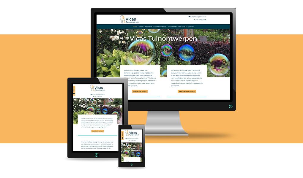 nieuwe website vicas tuinontwerpen
