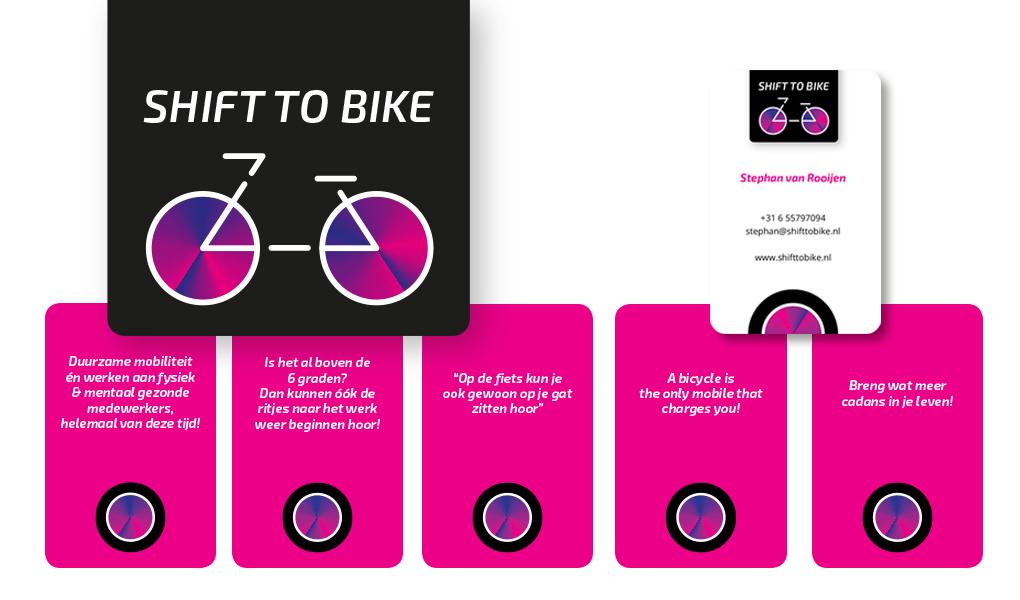 logo en huisstijl shift to bike