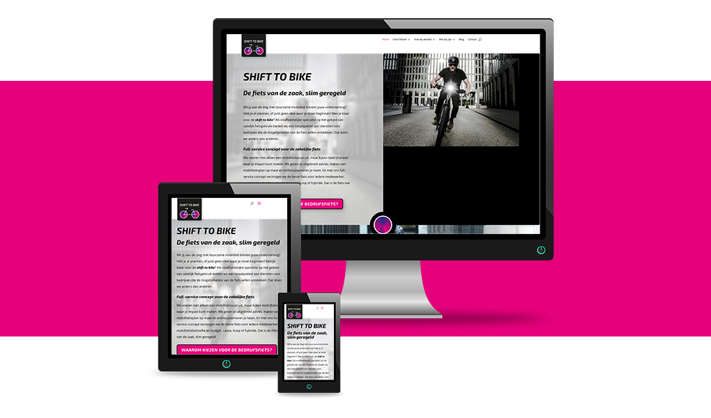 nieuwe website shift to bike